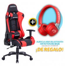PACK: Silla Gaming Infiniton G-SEAT ROJA + REGALO:...