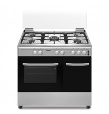 Cocina + Horno INFINITON CC9294XPE - Inox, 5 Fuegos, 60...