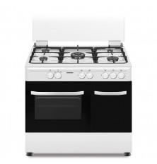 Cocina + Horno INFINITON CC9391PBL - Blanco, 5 Fuegos, 60...