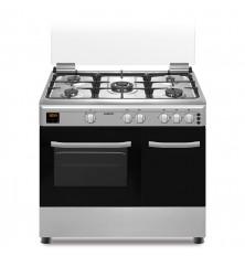 Cocina + Horno INFINITON CC9696XHTP - Inox, 5 Fuegos, 59...