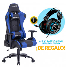 PACK: Silla Gaming Infiniton G-SEAT-21 Azul + REGALO:...