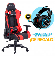 PACK: Silla Gaming Infiniton G-SEAT-22 Roja + REGALO:...