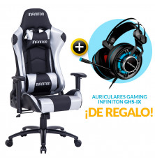 PACK: Silla Gaming Infiniton G-SEAT-23 Plata + REGALO:...