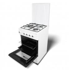 Cocina + Horno MILECTRIC CGS-50b - Blanco, 3 Fuegos, 52...
