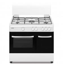 Cocina + Horno INFINITON CC9060ELP - Blanco, 5 Fuegos, 60...