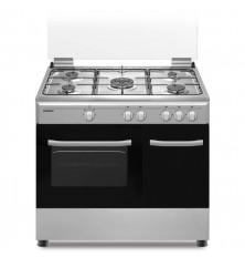 Cocina + Horno INFINITON CC9162XPB - Inox, 5 Fuegos, 60...