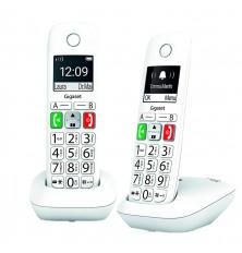 Teléfonos Inalámbricos GIGASET E290 DUO - Blanco, Agenda...