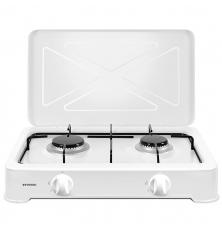 Cocina de Gas portátil INFINITON GGP-W2 - Blanco, 2...