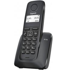 Teléfono Inalámbrico GIGASET A116 - Negro, Agenda 50...