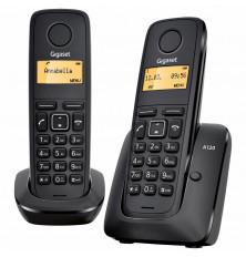 Teléfonos Inalámbricos GIGASET A120 DUO - Negros, Agenda...