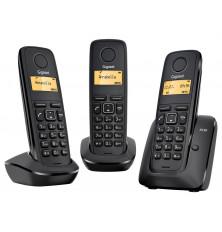 Teléfonos Inalámbricos GIGASET A120 TRIO - Negros, Agenda...