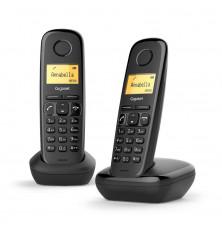Teléfonos Inalámbricos GIGASET A170 DUO - Negros, Agenda...