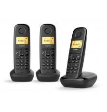 Teléfonos Inalámbricos GIGASET A170 TRIO - Negros, Agenda...