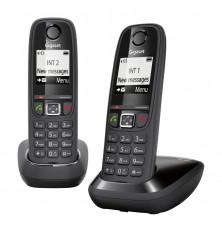 Teléfonos Inalámbricos GIGASET AS405 DUO - Negro, Manos...