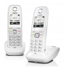 Teléfonos Inalámbricos GIGASET AS405 DUO - Blanco, Manos...