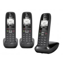 Teléfonos Inalámbricos GIGASET AS405 TRIO - Negro, Manos...
