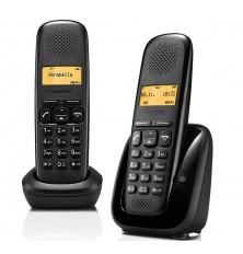 Teléfonos Inalámbricos GIGASET A150 DUO - Negro, Agenda...