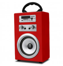 Altavoz Karaoke INFINITON K8 - Rojo, Bluetooth, USB, SD,...