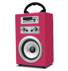 Altavoz Karaoke INFINITON K8 - Rosa, Bluetooth, USB, SD,...