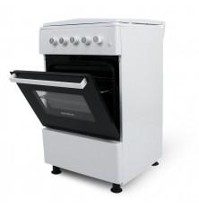 Cocina + Horno INFINITON CC5051HEB - Blanco, 4 Fuegos, 52...