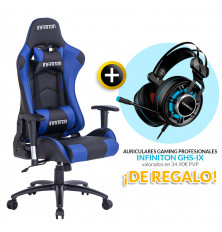 PACK: Silla Gaming Infiniton G-SEAT-01 AZUL + REGALO:...