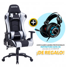 PACK: Silla Gaming Infiniton G-SEAT-02 SILVER + REGALO:...