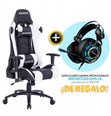 PACK: Silla Gaming Infiniton G-SEAT BLANCA + REGALO:...