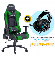 PACK: Silla Gaming Infiniton G-SEAT-01 VERDE + REGALO:...