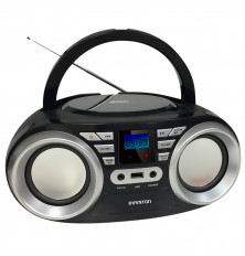 Reproductor CD/MP3 INFINITON MPCD-88 - Negro, USB, Aux,...