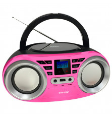 Reproductor CD/MP3 INFINITON MPCD-88 - Rosa, USB, Aux,...