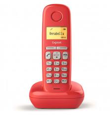 Teléfono Inalámbrico GIGASET A170 - Rojo, Agenda 50...