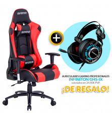 PACK: Silla Gaming Infiniton G-SEAT-01 ROJA + REGALO:...
